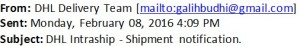 DHL Phising Email